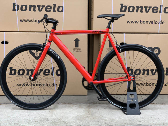 "bonvelo Singlespeed/Fixie Fahrrad BLIZZ ""Red Flag"""